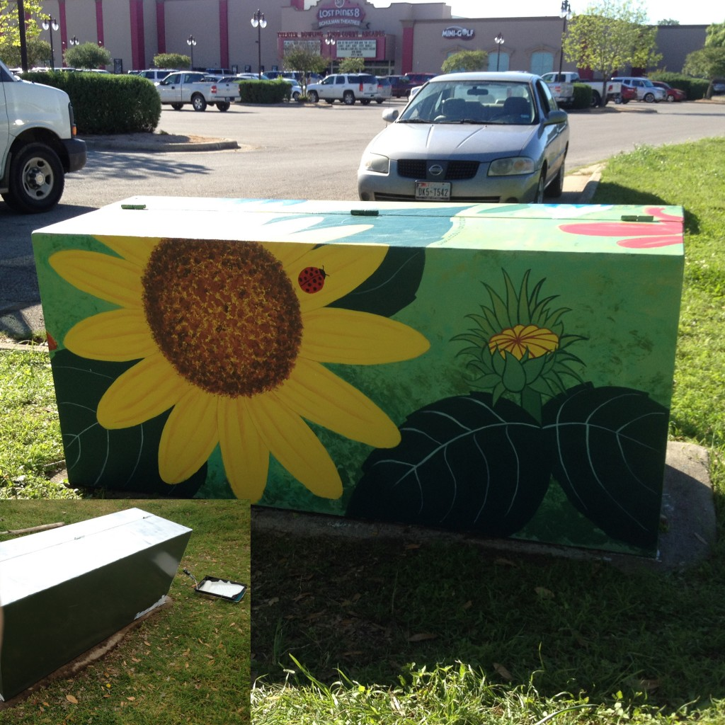 "The other side of ""Wild Flowers"" mural."
